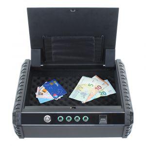 Profirst NY 2 Pistolenkassette Schutzbox Fingerprintschloss Anthrazit
