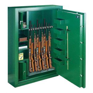 Rottner Waffenschrank EN0 SPORT N10 Premium Doppelbartschloss grün